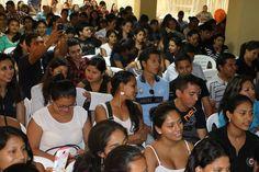 estudiantes que asistieron al evento