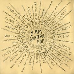 Mandala of Gratitude < a creative way of expressing one's gratitude for what is good, going right in your life.