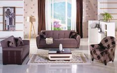Polo Platin Light Brown Sofa Bed by Sunset