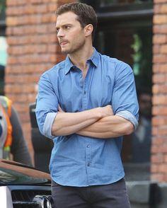 Hello Mr. Grey  #FiftyShades #JamieDornan