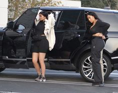 BFF by her side: Kylie was busy getting out of her black SUV as her pal Jordyn Woods, who ... #kyliejenner