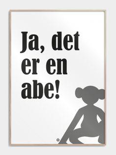 Citatplakater - Sjove danske citater på fede plakater! Movie Quotes, Texts, Humor, Words, Funny, Prints, Inspiration, Writings, Danish