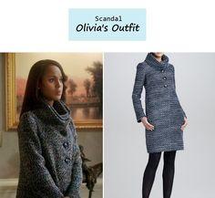 "On the blog: Olivia Pope's (Kerry Washington) gray boucle funnel neck coat    Scandal - ""Icarus"" (Ep. 306) #tvstyle #tvfashion #outfits #fashion #gladiators"