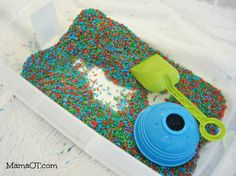 50 Fun Ways to Play with Rice - Mama OT. For more early intervention pins, follow @Penny Rush for Kids