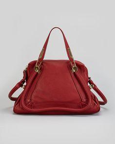 Chloe - Paraty Medium Shoulder Bag, Red