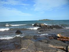 North Shore, Lake Superior - Beach near Knife River, MN.