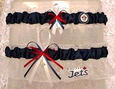 Winnipeg Jets Garter Set NHL Hockey by narfer99 on Etsy, $25.00