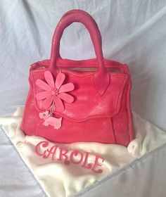 cake for mum? I'd better get practising! Radley Handbags, Radley Bags, Shoe Box Cake, Handbag Cakes, Purple Handbags, Crazy Cakes, Fondant Cupcakes, Just Cakes, Everything Pink