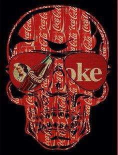 Skulls & Illusion ~ Skull on Coke