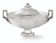 terrine, sa doublure et son couv Auguste, Sculpture, Decoration, Antique Silver, Joseph, Auction, Bronze, Brass, French