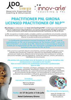 """PNL Girona: """"Licensed Practitioner of Neuro-Linguistic Programming®""""  Avalado y certificado por The Society of NLP™ y el Dr. Richard Bandler®, co-creador de la PNL."""