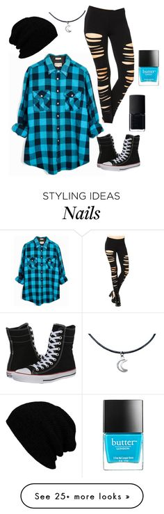 """""""Untitled #266"""" by blueflower369 on Polyvore featuring Converse, Butter London and NARS Cosmetics"""