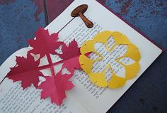 Kirigami Fall Decorations.    Love to cut paper?  here you go. I love the Gingko leaves and the acorns ;-)
