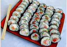 Sushi Roll Recipes, Snack Recipes, Snacks, Breakfast Slider, Sushi Rolls, Rice Cakes, Food N, Food Coloring, Japanese Food