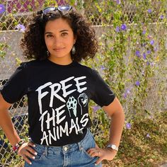 Free the animals! All of them ❤️🐟🐔🐷🐻 Send a strong message with this #PETA top now available in the #PETAcatalog.