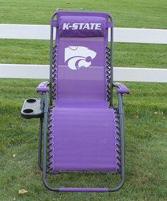 Loving this Kansas State Wildcats  Zero-Gravity Chair on #zulily! #zulilyfinds