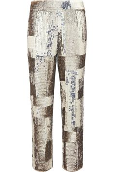 Gold and silver sequined georgette Concealed hook and zip fastening at side 100% polyester; lining: 100% silk Dry clean Made in FranceAs seen in The EDIT magazine