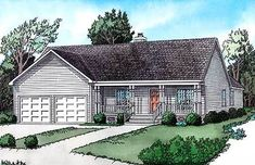 Discover the Swinley Forest Ranch Home that has 2 bedrooms and 2 full baths from House Plans and More. See amenities for Plan House Plans And More, Best House Plans, Dream House Plans, House Floor Plans, European House Plans, Country House Plans, 1000 Sq Ft House, 1 Story House, Traditional House Plans