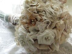 Fabric flower bouquet.