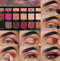 pictorial of my latest look using the Huda Beauty Rose Gold REMASTER., - pictorial of my latest look using the Huda Beauty Rose Gold REMASTER…, - Huda Beauty Rose Gold Palette, Rose Gold Eyeshadow, Gold Eye Makeup, Huda Palette, Rose Gold Makeup Looks, Eid Makeup, Huda Beauty Eyeshadow Palette, Makeup Ideas, Makeup 2018