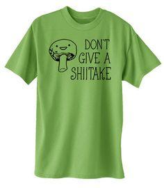 Don't Give a Shiitake T-shirt - anime shirt kawaii mushroom funny geeky otaku tee by gesshokudesigns on Etsy
