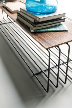 Rectangular wooden coffee table FENCE by Lema