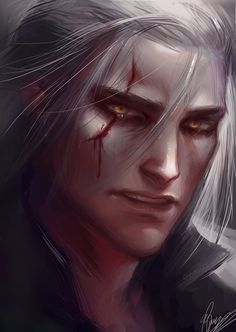 The Witcher Virus got me D: Young Geralt by Relocating? The Witcher Books, The Witcher Game, The Witcher Geralt, Witcher Art, Ciri, Character Portraits, Character Art, Character Design, Fantasy Male