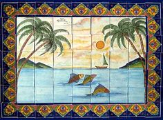 Add to your #kitchen #decor a #backsplash #tile #mural. #myMexicantile #murals for kitchen are used for #decorating kitchen walls, backslashes and counters. Beside kitchens any talavera mural is ideal for any #homedecor project including a #focalpoint. Our #handcrafted tile mural collection consists of many different sizes and teams. #Mexican mural is #functional, #beautiful, and #practical, it is easy to care for. #Talavera tile murals have been decorating homes in #Europe and #LatinAmerica…