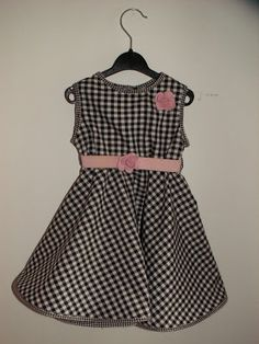 Howling at the moon: Gingham Girl's Dress