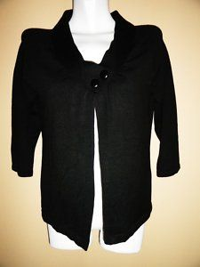 $19.99 New Womens Moonlight Bay Two Button Black Cardigan Sweater Size: Small