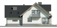 Unique Country House Plan With Four Bedrooms And Three Bathrooms - House And Decors Modern House Plans, Modern House Design, Modern Architectural Styles, Porch House Plans, Looking For Houses, French Country House Plans, Modern Architecture House, Home Design Plans, Design Case