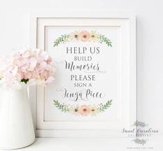 Etsy Jenga Piece Wedding Printable - DIY Instant Download - Wedding Jenga Printable 8x10