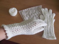 Ravelry: Estonian White Lacy Gloves pattern by Marge Ilmosaar