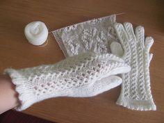 Ravelry: Estonian White Lacy Gloves pattern by Marge Ilmosaar