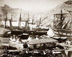 British Warships in Cossack Bay, Balaklava - Roger Fenton's Crimean War Daguerreotypes, 1855