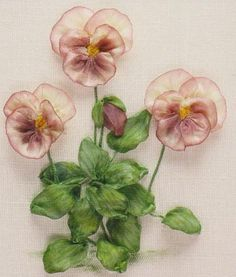 A-Z of Silk Ribbon Flowers - Viola by Ann Cox
