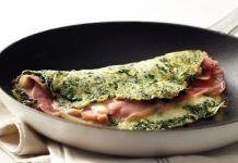 Omelette de Espinaca con Jamon y Queso Método Grez