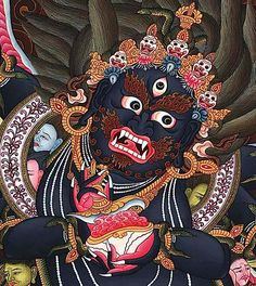 Tantric Wrathful Deities: The Psychology and Extraordinary Power of Enlightened Beings in Their Fearsome Form - Buddha Weekly: Buddhist Practices, Mindfulness, Meditation Buddhist Symbol Tattoos, Buddhist Symbols, Buddha Tattoos, Buddhist Art, Hindu Tattoos, Tibetan Tattoo, Tibetan Art, Tibetan Buddhism, Indian Gods