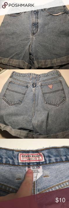 Guess Jean Shorts Guess. Jean Shorts. Rolled up. Size 32. High waisted. Guess Shorts Jean Shorts