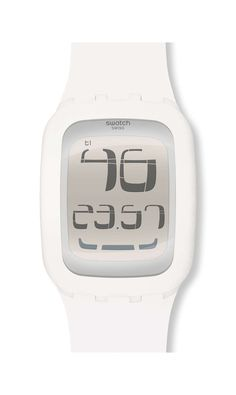 Swatch Touch White: Really cool white-on-white touch-screen