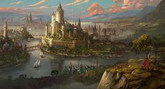Medieval Fantasy City Concept Art