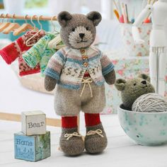 New Tearoom Sock Yarn Bear Jacket/ PDF Knitting Pattern/
