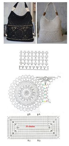 Nice tote.. Pinned from http://crochetpedia.blogspot.com/2013/05/lots-of-crochet-purse-patterns-and.html