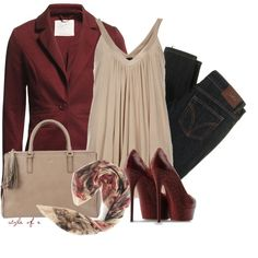 """Burgundy"" by styleofe on Polyvore"