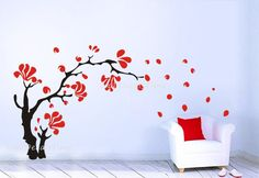 Flower Wall Decal Nature Nursery Wall Decal by WallDecalsTime, $59.00