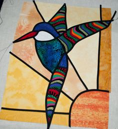 First attempt at stain glass applique