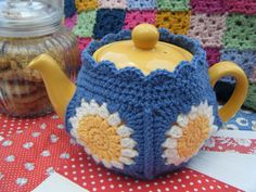 Crochet: Rosie Posy Tea Cosy *now this is a different looking cozy - love the colours <3
