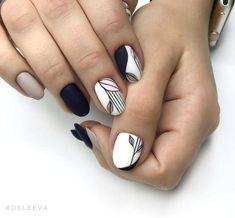 Nail art Christmas - the festive spirit on the nails. Over 70 creative ideas and tutorials - My Nails Elegant Nail Designs, Diy Nail Designs, Diy Design, Design Art, Nail Gelish, Art Deco Nails, Polka Dot Nails, Trendy Nail Art, Super Nails