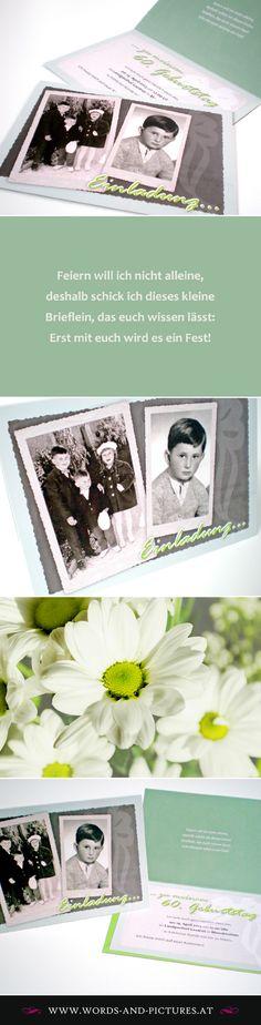 GEBURTSTAGSEINLADUNG  |  PRIVAT Text Design, Polaroid Film, Pictures, Scrapbooking, Photos, Scrapbooks, Memory Books, Grimm, Scrapbook
