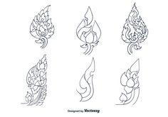 Hand Drawn Thai Pattern Vector
